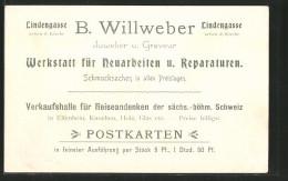 AK Schandau, B. Willweber, Verkaufshalle Für Reiseandenken Der Sächs.-böhm. Schweiz, Postkarten - Cartes Postales