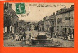 14 BLANGY Le CHATEAU : Place De La Fontaine Et Une Vue Du Bourg - Autres Communes
