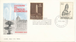 Vatican Cover 8-12-1965 Chiusura Del Concilio Ecumenico With Cachet - Vatican