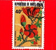 ALTO VOLTA - Usato - 1982 - Fiori - Kapok - 40 - Upper Volta (1958-1984)
