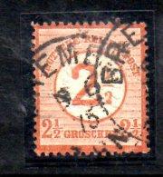 GERMANIA IMPERO 1874 , 2 1/2 Su 2 1/2 G.  N. 28  Usato , - Allemagne