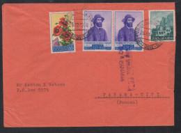 S538.-. SAN MARINO.  26-12-1958 COVER TO PANAMA, ARRIVAL CACHET ON BACK. - Briefe U. Dokumente