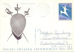 POLAND FENCING SCHERMA FULL POST 1972  (F160204) - Scherma