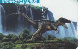 ARGENTINA(chip) - Giganotosaurus, Telefonica Telecard(F 77), 07/97, Used - Argentina
