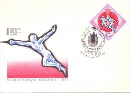 POLAND FENCING SCHERMA FDC  CCCP 1973  (F160205) - Scherma