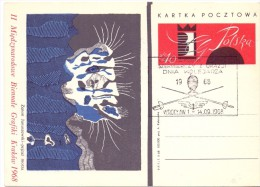 POLAND FENCING SCHERMA FDC  CCCP 1968  (F160206) - Scherma