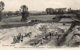 PRESLES ET BOVES - Ballasti�re St Audebert - extraction chantier N� 2