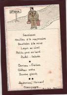MENU - CARTE  POSTALE  -  Libération De Nos Soldats. - Daté Du 11 Juin 1945 -  Illustrateur   - 2 Scannes. - Menus