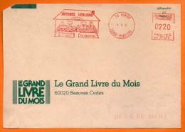 76 ELBEUF  JACQUES LEBLOND  1987 Devant De Lettre N° EMA 3314 - Freistempel