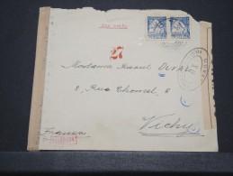 PORTUGAL - Env Par Avion Pour Vichy Avec Double Censure Et Contrôle - Dec 1942 - A Voir - P 16633 - Marcophilie