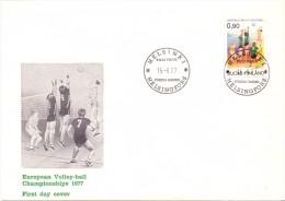 FINLAND VOLLEY BALL 1977 FDC   (F160212) - Pallavolo