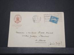 FRANCE - Env (Hotel Richmond) De Paris Pour Le Havre - Nov 1921 - A Voir - P 16634 - France