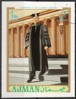 625 Ajman 1970 Eisenhower At Columbia University  Imperf. - Célébrités