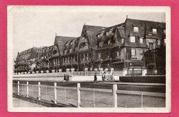 14 CALVADOS DEAUVILLE, La Plage Fleurie, Animée, Hôtel Normandy, 1949, (La Cigogne, Deauville) - Deauville
