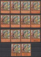 OLYMPIC GAMES Jeux Olympiques STOCKHOLM 1912 14v Labels ( Vignettes ) - Zomer 1912: Stockholm