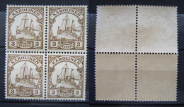 Dt.Reich Kolonien Karolinen 1900 ** Viererblock Postfrisch    (A139) - Colonia: Islas Carolinas