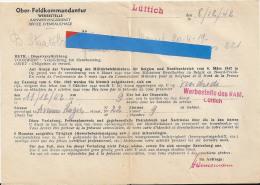 Guerre 1940 - 1945 - Werbestelle - Office D'Embauchage - 1939-45