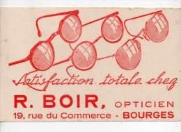 Buvard - Opticien, R. Boir, Bourges - Blotters