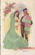 Fantaisies - Carte Brodée - Espagne - Folklore Jerez - Fantaisies