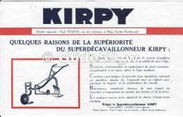 Document Pubicitaire - Superdécavaillonneur & Brabant KIRPY - Paul Tesson à Blain - Agriculture
