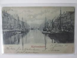 KJOBENHAVN  . CARTE 1900 BLEU A LA LUNE - Danemark