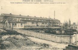 CPA 02 CROUY FORGES DE L'AISNE DETRUITES PENDANT LA GUERRE REMISE EN MARCHE 1922