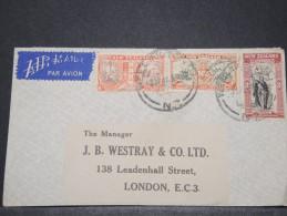 NEW ZELANDE - Env De Wellington Pour Londres GB - 1946 - A Voir - P 16652 - 1907-1947 Dominion