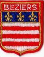 Ecusson Tissu Feutrine Brodee BEZIERS, Format 6x5 Cm - Ecussons Tissu