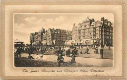 - Royaume Uni  - Ref - A 713 - Folkestone - The Grand Mansions And Metropole Hotel - Carte Bon Etat - - Royaume-Uni