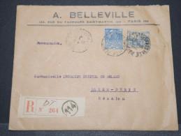 REUNION - Env Recommandée De Paris Pour St Denis De La Réunion Avec N° 151 - Dec 1931 - A Voir - P 16655 - Réunion (1852-1975)