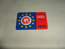 ANCIEN CALENDRIER DE POCHE  1991  / PUB  FGTB HORECA - Petit Format : 1991-00