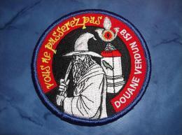 Ecusson Patch Douane Brigade De Surveillance Intérieure De Verdun - Ecussons Tissu