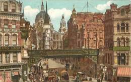 - Royaume Uni  - Ref - A 711 - Londres - London - Ludgate Circus - Carte Illustree - Carte Bon Etat - - Royaume-Uni