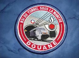 Ecusson Patch Douane Brigade De Surveillance Intérieure Du Tunnel Sous La Manche - Ecussons Tissu