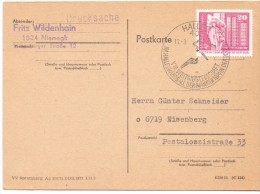 GERMANY POSTKARTE  FRITZ 1974 SPECIAL ANULLED (F160231) - Pallamano