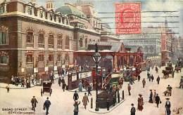 - Royaume Uni  - Ref - A 707 -  Londres - London - Broad Street - Carte Illustree - - Royaume-Uni