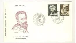 ITALIA REPUBBLICA - FDC FILAGRANO - MICHELANGELO BUONARROTI - ANNO 1964 - 6. 1946-.. Republik
