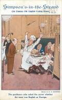 - Royaume Uni  - Ref - A 704 - Simpson S In The Strand - The Famous Old English Eating House - Carte Bon Etat - - Royaume-Uni