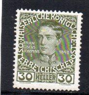 AUTRICHE 1908-13 *