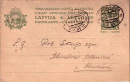 Latvia Postcard With TPO Cancel Zemgale-Riga Nr.10,lit A. 2.8.1927 - Lettonie
