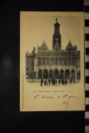 CP, 02, SAINT QUENTIN Hotel de Ville n�35 edition PD epreuve Jumelle Bellieni et Plaque Lumiere 1902 Belle Animation