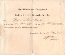 Certificat De Travail Dans Une Usine De Métallurgie En 1907 - - Collections