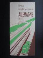 DéPLIANTS TOURISTIQUES (M1505) ALLEMAGNE (2 Vues) Si Vous Comptez Voyager En Allemagne 1955 - Dépliants Touristiques