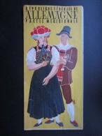 DéPLIANTS TOURISTIQUES (M1505) ALLEMAGNE (2 Vues) République Fédérale De Allemagne Partie Méridionale - Dépliants Touristiques