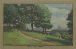 - Royaume Uni - Ref- A690 -  Londres - London - Primerose Hill -carte Illustree - Illustrateur J R Way -carte Bon Etat - - London