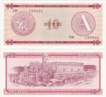 Cuba - 10 Pesos Ex. Certificate UNC serie A Ukr-OP