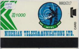 NIGERIA PHONECARD (AUTELCA) NIGERIA TELECOMMUNICATIONS GREEN ARROW 1000-USED(bx1) - Nigeria