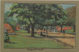 - Royaume Uni - Ref- A687 - Londres - London - Regent S Park - Carte Illustree - Illustrateur J R Way -carte Bon Etat - - London