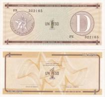 Cuba - 1 Peso Ex. Certificate UNC serie D Ukr-OP