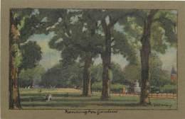 - Royaume Uni - Ref- A685 - Londres - London - Kensington Gardens - Carte Illustree - Illustrateur J R Way - - London